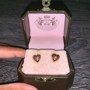 Juicy Couture 🌹 Gold Stud Heart Earrings ❤️